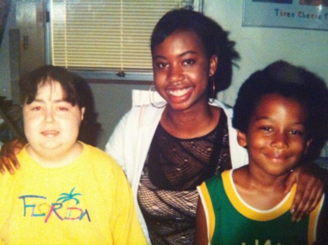 Amanda, my cousin Shawn, and me in the middle.